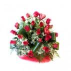 Cesta de 24 Rosas Rojas calidad EXTRA