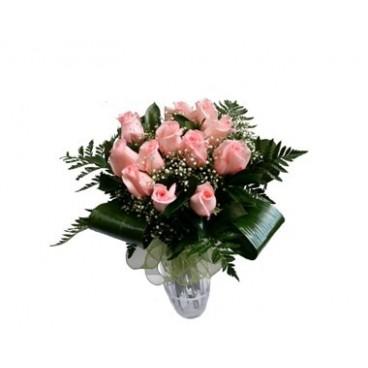 Rosas en color rosa